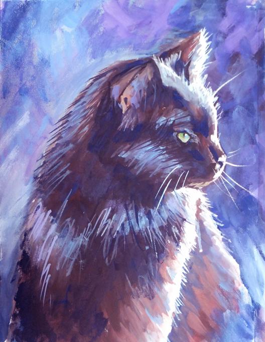 gouache cat