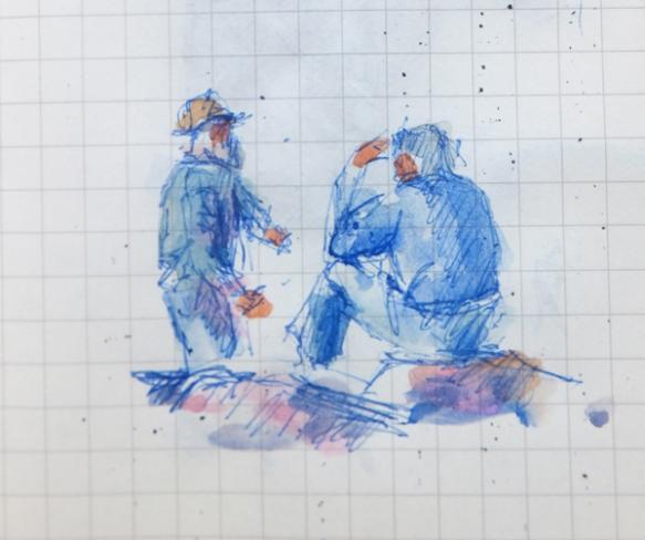 biro sketch