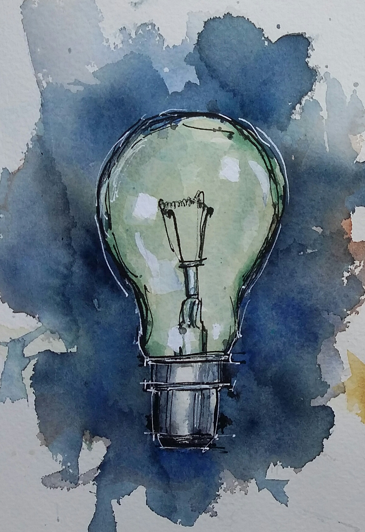 161 Light Bulb And Hat Ros S Paintings